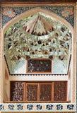 Λεπτομέρεια των διακοσμήσεων στο παλάτι Sheki Khans στοκ εικόνες