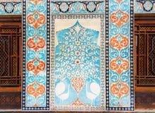 Λεπτομέρεια των διακοσμήσεων στο παλάτι Sheki Khans στοκ φωτογραφία