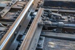 Λεπτομέρεια των διαδρομών σιδηροδρόμου για τις σιδηροδρομικές μεταφορές Στοκ Εικόνες