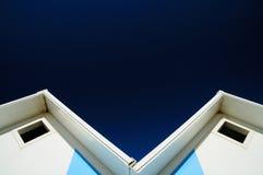 Λεπτομέρεια των καμπινών παραλιών Στοκ Φωτογραφία