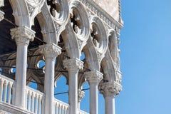 Λεπτομέρεια των στηλών του Doge ` s παλατιού στη Βενετία Στοκ φωτογραφίες με δικαίωμα ελεύθερης χρήσης