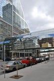 Λεπτομέρεια των φουτουριστικών ουρανοξυστών στο Ντένβερ στις ΗΠΑ Στοκ Εικόνα