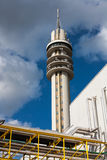 Λεπτομέρεια των χημικών σωλήνων εργοστασίων Στοκ φωτογραφίες με δικαίωμα ελεύθερης χρήσης