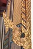 Λεπτομέρεια χαρασμένου Naka στον ταϊλανδικό ναό Στοκ Εικόνα