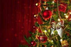 Λεπτομέρεια χριστουγεννιάτικων δέντρων Στοκ Εικόνες