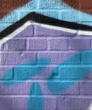 Λεπτομέρεια χρωματισμένου του ελεύθερη κολύμβηση τοίχου στοκ φωτογραφία με δικαίωμα ελεύθερης χρήσης