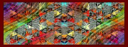 Λεπτομέρεια χρώματος τυπωμένων υλών απεικόνιση αποθεμάτων