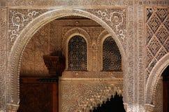 Λεπτομέρεια Alhambra Στοκ εικόνα με δικαίωμα ελεύθερης χρήσης