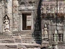 Λεπτομέρεια Archiectural από Banteay Kdei, Καμπότζη Στοκ Φωτογραφία