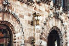 Λεπτομέρεια Architectual του ταχυδρομικού παλατιού ι Πόλη του Μεξικού Στοκ Φωτογραφία