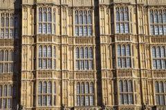 Λεπτομέρεια Arhitectur των σπιτιών του Κοινοβουλίου, Λονδίνο. Στοκ Εικόνες