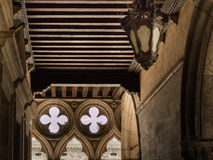 Λεπτομέρεια Doges του παλατιού Arcade: Γοτθική αρχιτεκτονική στη Βενετία, Ι Στοκ Εικόνα