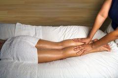 λεπτομέρεια foot leg massage spa Στοκ Εικόνες
