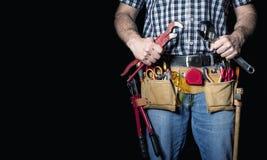 Λεπτομέρεια Handyman στο Μαύρο στοκ φωτογραφίες