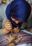 Λεπτομέρεια henna Στοκ εικόνες με δικαίωμα ελεύθερης χρήσης