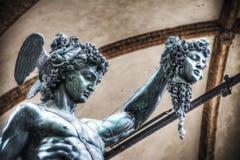Λεπτομέρεια Medusa εκμετάλλευσης Perseo του κεφαλιού Στοκ φωτογραφίες με δικαίωμα ελεύθερης χρήσης