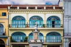 Λεπτομέρεια Plaza Vieja - της Αβάνας, Κούβα Στοκ φωτογραφία με δικαίωμα ελεύθερης χρήσης