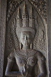 Λεπτομέρεια Wat Angkor της γυναίκας Στοκ Φωτογραφίες