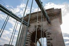 Λεπτομέρειες άποψης της ελευθερίας γέφυρα-Βουδαπέστη στοκ εικόνες