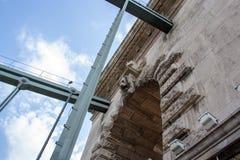 Λεπτομέρειες άποψης της ελευθερίας γέφυρα-Βουδαπέστη στοκ εικόνα