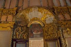 Λεπτομέρειες αρχιτεκτονικής στο εσωτερικό του καθεδρικού ναού του Άγιου Βασίλη Φίλτρο που εφαρμόζεται μαλακό novgorod Ρωσία velik Στοκ Φωτογραφία