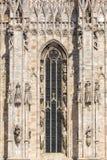 Λεπτομέρειες αρχιτεκτονικής του καθεδρικού ναού του Μιλάνου, ή IL Duomo στοκ εικόνες