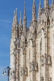 Λεπτομέρειες αρχιτεκτονικής του καθεδρικού ναού του Μιλάνου, ή IL Duomo στοκ φωτογραφίες