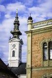 Λεπτομέρειες αρχιτεκτονικής του παλατιού επισκόπων και του καθεδρικού ναού Αγίου Georges στοκ φωτογραφία με δικαίωμα ελεύθερης χρήσης