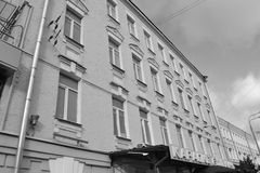 Λεπτομέρειες αρχιτεκτονικής των κτηρίων της Μόσχας Στοκ φωτογραφία με δικαίωμα ελεύθερης χρήσης