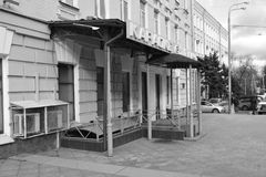 Λεπτομέρειες αρχιτεκτονικής των κτηρίων της Μόσχας Στοκ Εικόνα
