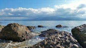 Λεπτομέρειες βράχων θάλασσας Στοκ φωτογραφία με δικαίωμα ελεύθερης χρήσης