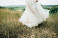 Λεπτομέρειες ενός γαμήλιου φορέματος Στοκ εικόνα με δικαίωμα ελεύθερης χρήσης