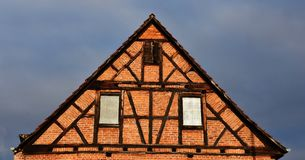 Λεπτομέρειες ενός εφοδιασμένου με ξύλα σπιτιού στοκ φωτογραφία με δικαίωμα ελεύθερης χρήσης