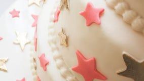 Λεπτομέρειες κέικ γενεθλίων Στοκ φωτογραφία με δικαίωμα ελεύθερης χρήσης