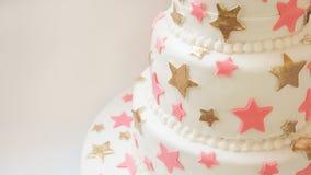 Λεπτομέρειες κέικ γενεθλίων Στοκ Εικόνες