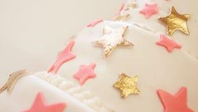 Λεπτομέρειες κέικ γενεθλίων Στοκ εικόνες με δικαίωμα ελεύθερης χρήσης