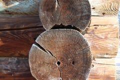 Λεπτομέρειες καμπινών κούτσουρων Στοκ εικόνα με δικαίωμα ελεύθερης χρήσης