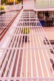 Λεπτομέρειες κατασκευής: Louver αλουμινίου ή σκιά ήλιων στοκ φωτογραφία με δικαίωμα ελεύθερης χρήσης