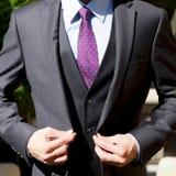Λεπτομέρειες κοστουμιών Menswear Στοκ εικόνα με δικαίωμα ελεύθερης χρήσης