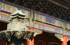 Λεπτομέρειες μέσα στο ναό λάμα στοκ φωτογραφίες με δικαίωμα ελεύθερης χρήσης