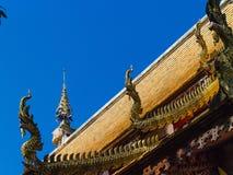 Λεπτομέρειες μαρκιζών Architecture_NAKA Ταϊλανδού Lanna χρησιμοποιημένος στο signisicant κτήριο στοκ εικόνες