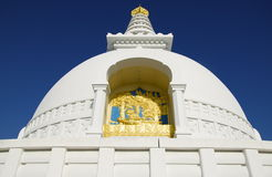 Λεπτομέρειες παγοδών παγκόσμιας ειρήνης Lumbini στοκ φωτογραφία με δικαίωμα ελεύθερης χρήσης