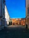 Λεπτομέρειες, πόρτες και παράθυρα των καταστροφών Στοκ φωτογραφία με δικαίωμα ελεύθερης χρήσης