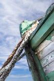 Λεπτομέρειες σε ένα παλαιό εγκαταλειμμένο σκάφος στη Γαλλία, Στοκ Εικόνες