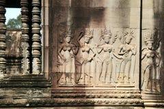 Λεπτομέρειες στο emple Ankgor Wat στην Καμπότζη. Στοκ εικόνα με δικαίωμα ελεύθερης χρήσης