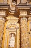 Λεπτομέρειες σχεδίων Arabesque στην όμορφη πρόσοψη της εκκλησίας Λα Merced στη Αντίγκουα Στοκ εικόνα με δικαίωμα ελεύθερης χρήσης