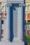 Λεπτομέρειες της αίθουσας θρόνων Anantasamakhom, παλάτι Dusit, Μπανγκόκ, Ταϊλάνδη: χτισμένος από τα ιταλικά άσπρα μάρμαρα στα ιτα Στοκ Φωτογραφία