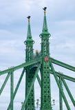 Λεπτομέρειες της γέφυρας ελευθερίας στη Βουδαπέστη, Ουγγαρία στοκ εικόνες