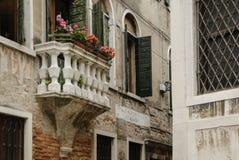 Λεπτομέρειες της γραφικής και ρομαντικής πόλης της Βενετίας Venezia, Ιταλία Στοκ Φωτογραφία