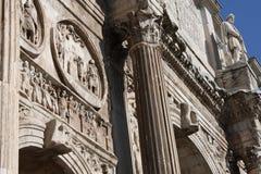 Λεπτομέρειες της θριαμβευτικής αψίδας του Constantine, που αφιερώνεται στην ΑΓΓΕΛΙΑ 315 για να γιορτάσει το Constantine Στοκ φωτογραφία με δικαίωμα ελεύθερης χρήσης